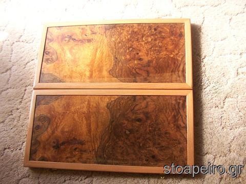 τάβλι ξύλινο, έξω πλευρά
