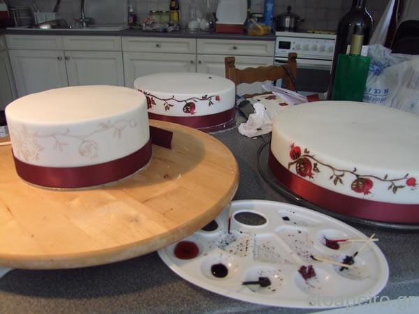 τούρτα ρόδι pomegranate cake