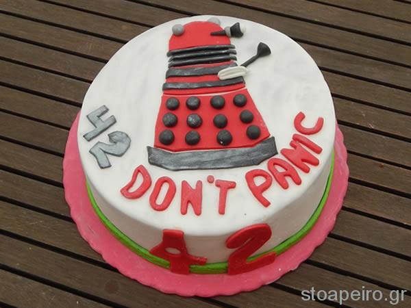 dalek 42 cake