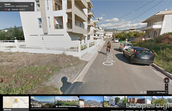 koyan on his bike by street view